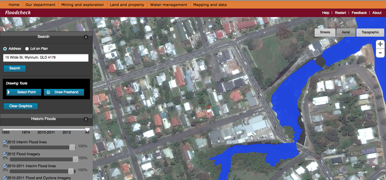 Wwwilovepropertynet Queensland QUICK SIMPLE FLOOD CHECK Just - Flood check map