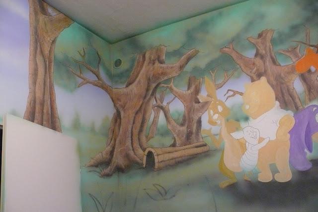 Malowanie pokoju dziecięcego, malarstwo ścienne, Lublin