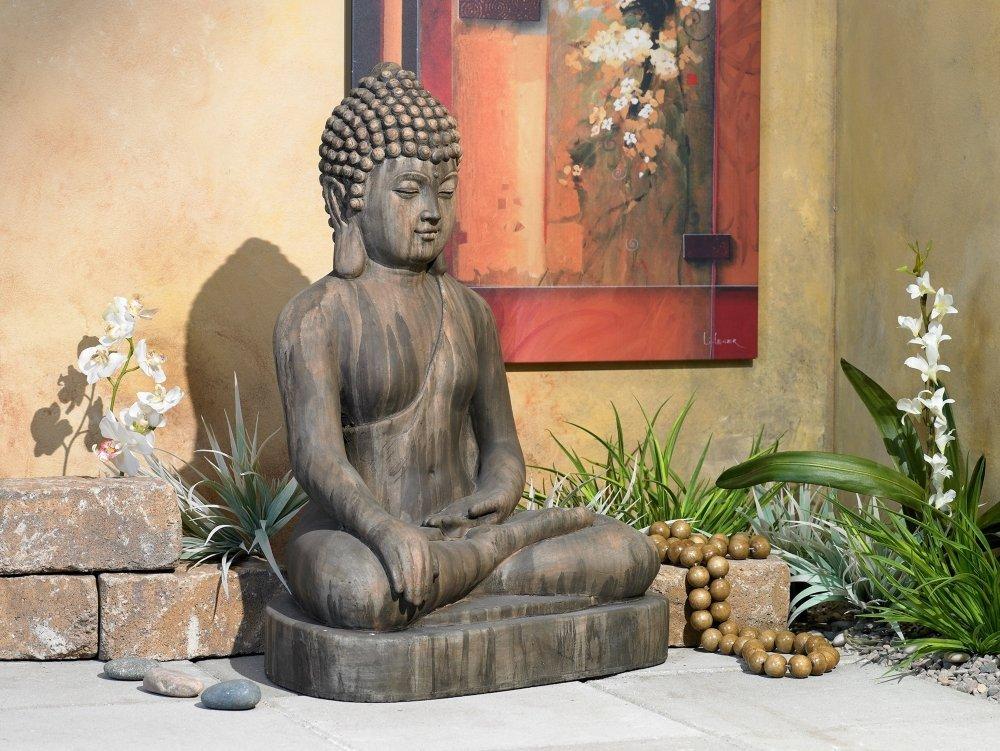 Sitting buddha garden statue garden buddha statues for Outdoor buddha