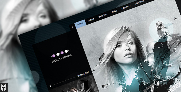 Nocturnal: Premier Audio WordPress Theme Free Download by ThemeForest.