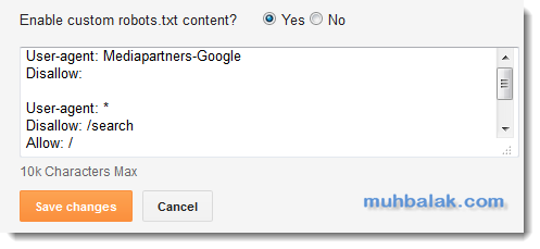 how to create robot txt for google