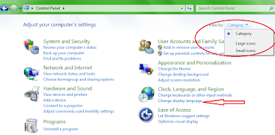 how to show language bar in windows 7