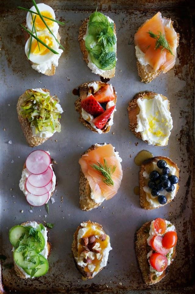 Party food idee dolci e salate per aperitivi e piccoli for Canape toppings