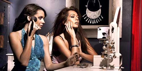 chicas guapas maquillaje noche fiesta