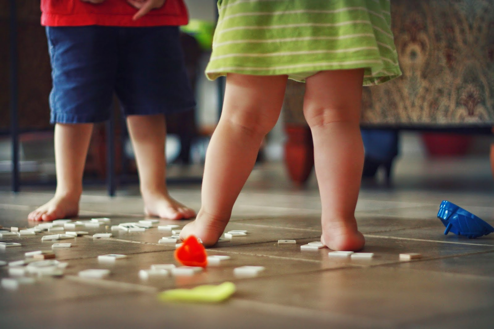 toddler feet messy floors happy babies