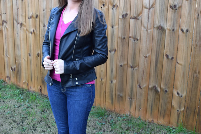 vegan leather, fall style, leather jacket