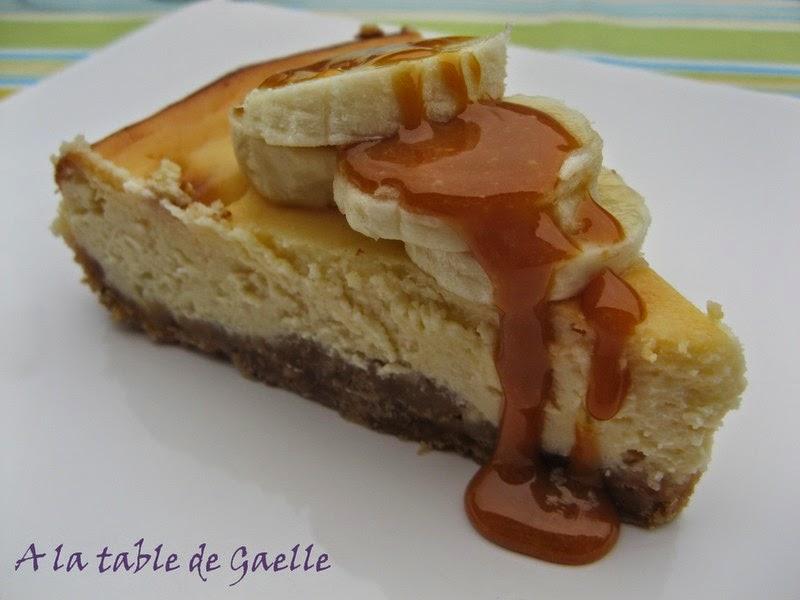 Recette de cheesecake caramel banane