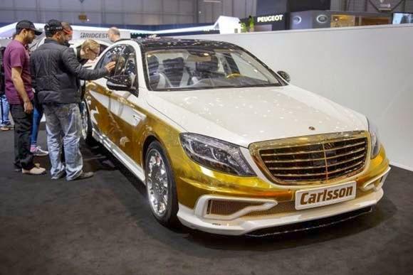 سيارة مرسيدس cs50 المذهبة ,اروع