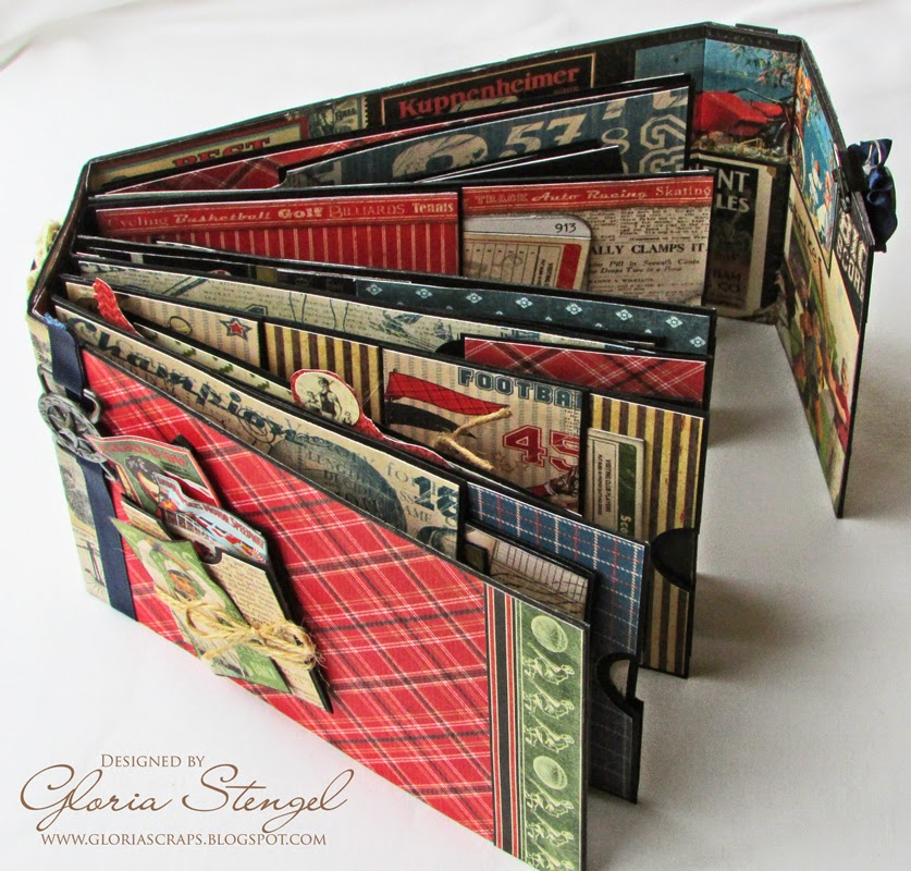 scraps of life graphic 45 good ol 39 sport mini album tutorial. Black Bedroom Furniture Sets. Home Design Ideas