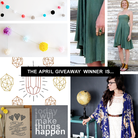 Big April Giveaway WINNER!