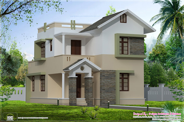1400 Square Feet Small Villa Elevation - Kerala Home