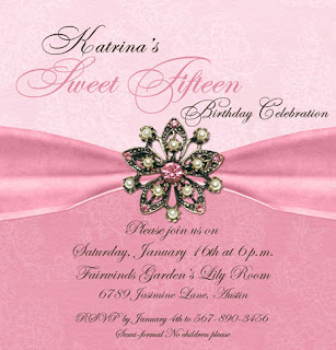 jewel blush invitation