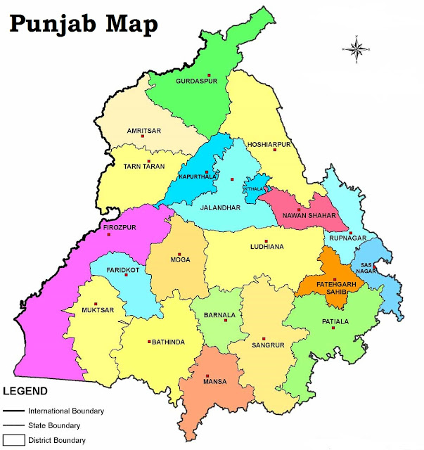 Punjab-state-mape-district-maps