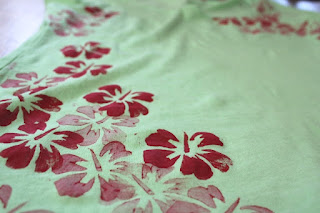 T-Shirt Kartoffeldruck Blüte