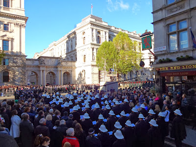 Our view on Remembrance Day at Whitehall