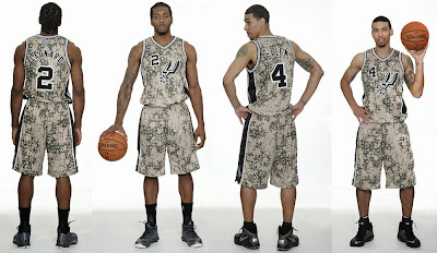 Spurs New Uniform Camo Military Tribute