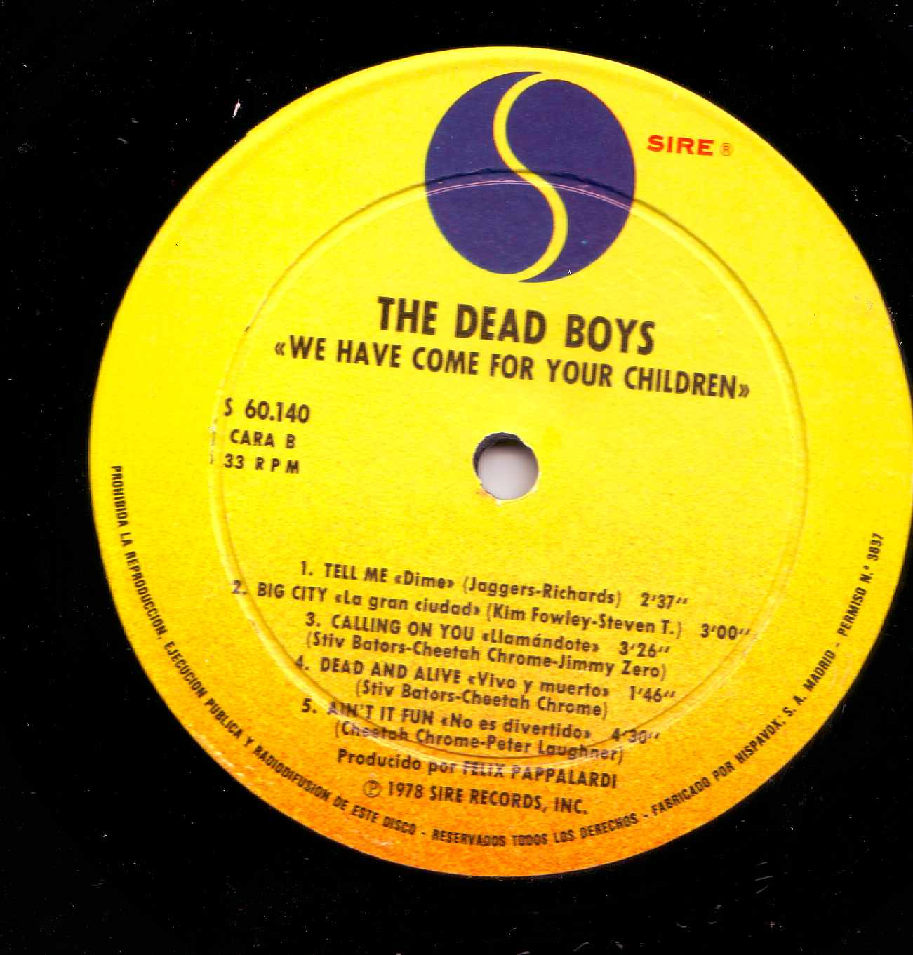 The Dead boys -We have come for your children Lp 1978Dead Boys We Have Come For Your Children