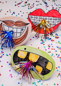 New Year's Party Horn Photo Props- Fun and easy DIY to make with the kids