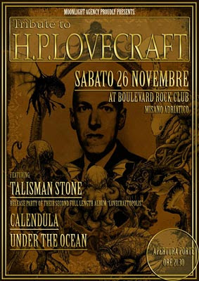 Tribute to H.P. Lovecraft, 2011, locandina