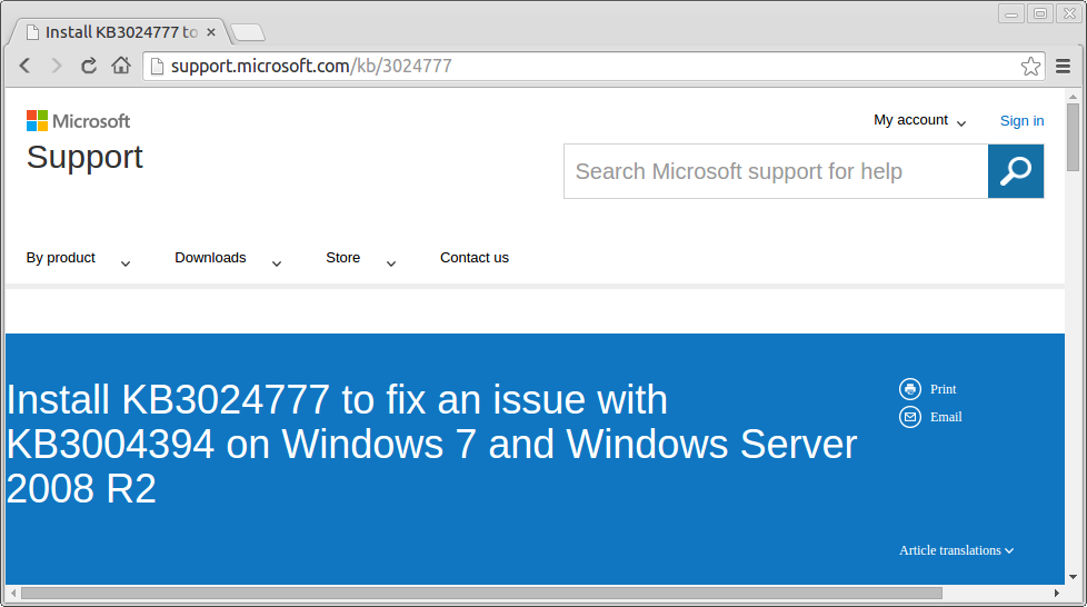 Windows Vii Together With Windows Server 2008 Users Must See! Kb 3024777