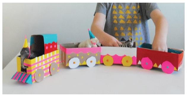 Como hacer un tren de carton - Imagui