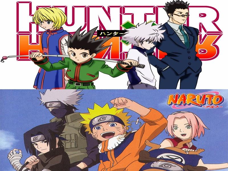 7 Hal yang hampir mirip antara Hunter X Hunter dan Naruto