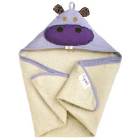3 sprouts hooded towel, 3 sprouts hippo towel, 3 sprouts review