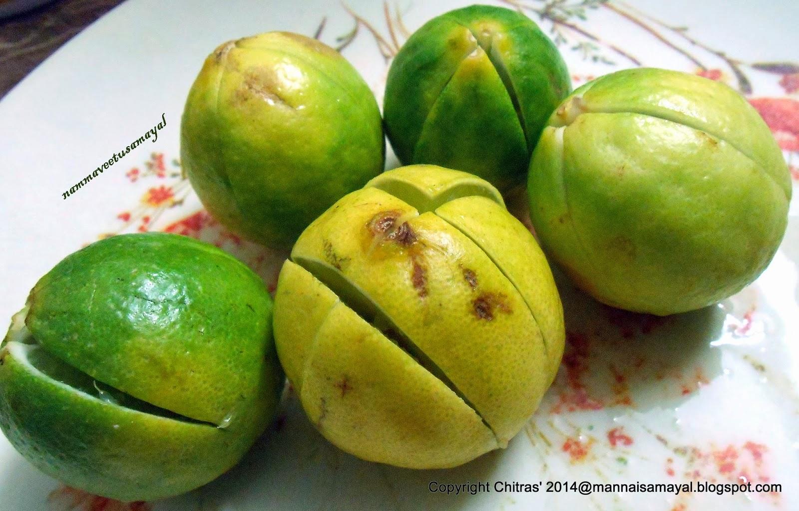 quartered lemon