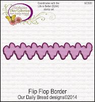 ODBD Custom Flip Flop Border Die