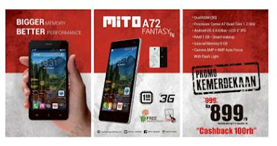 kekurangan, kelebihan, spsifikasi, Mito Fantasy Fly A72