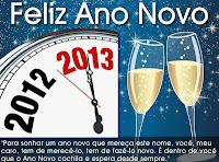 Cartão de Feliz Ano Novo 2012: Modelos Grátis para imprimir - 2013