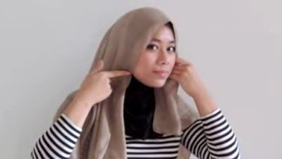 Creation hijab urban chic hanya 3 menit part 2