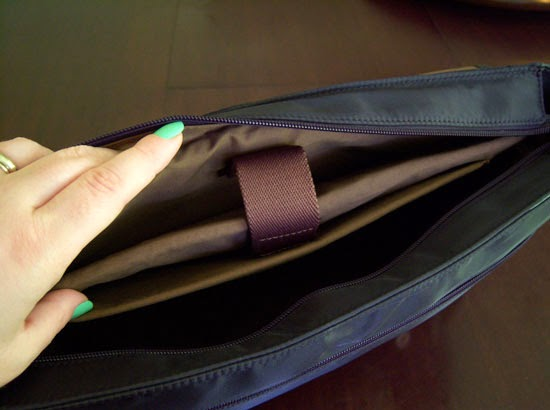 "Jill-e Designs Sasha 15"" Laptop Bag inner laptop pocket"