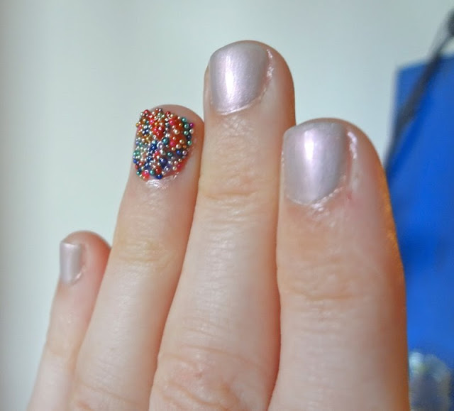 Essence Effects Nails, 3D nail art, Candy Buffet accent nail