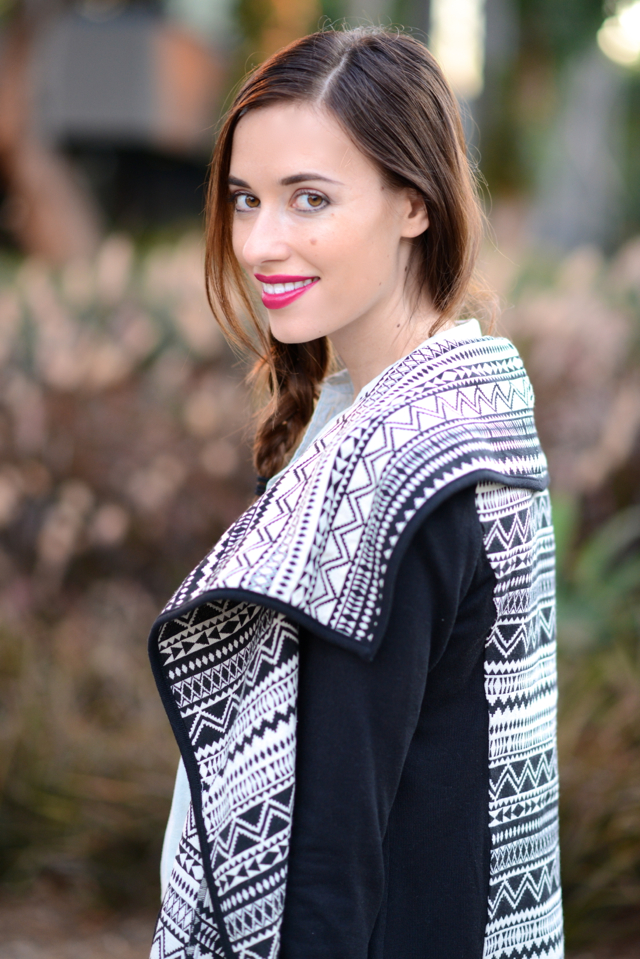 comfortable fall outfit with jeans and an aztec cardigan via M Loves M @marmar