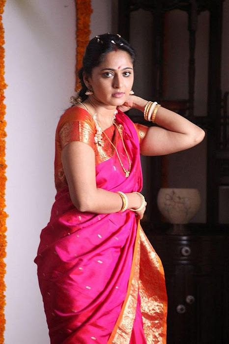 anushka Saree photos from thandavam
