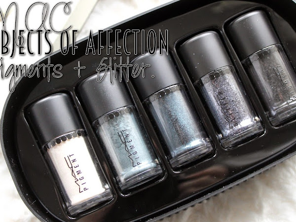 MAC Objects Of Affection Blue & Silver Pigments + Glitter.
