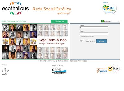 Chegou eCatholicus, a Rede Social oficial da Igreja Católica.