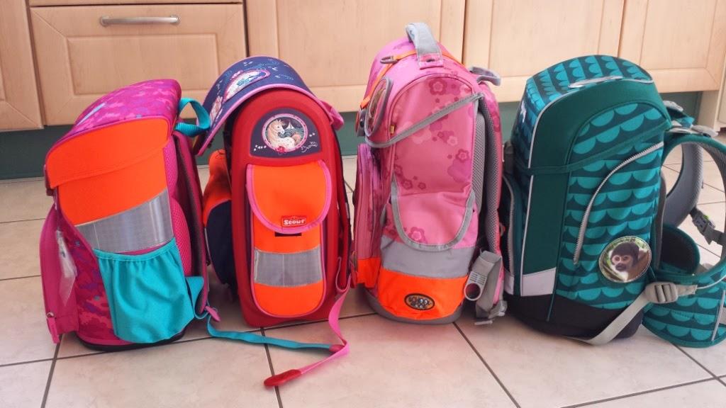 Seitentaschen der getesteten Schulranzen
