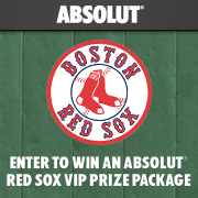 Absolut Red Sox VIP Prize Package