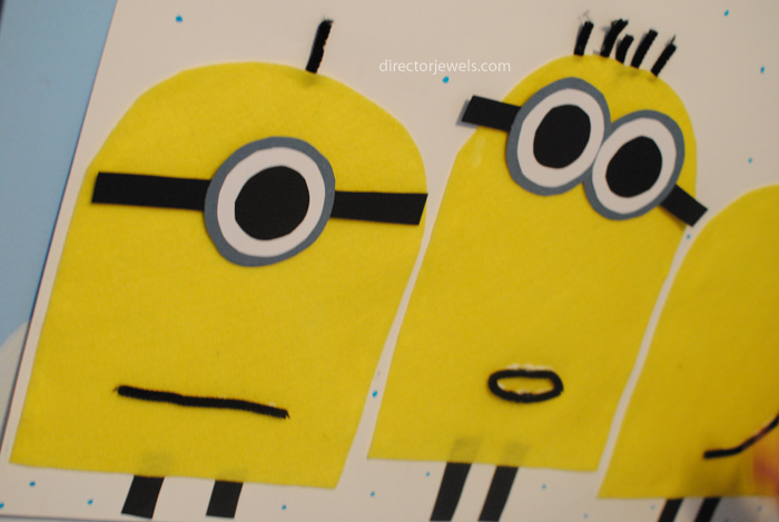 Pin the Goggles on the Minions Party Game | Minions Despicable Me Party Ideas at directorjewels.com