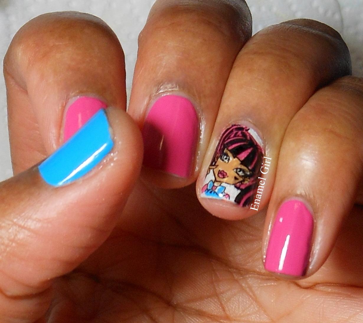 Enamel Girl Monster High Dyi Nail Decals