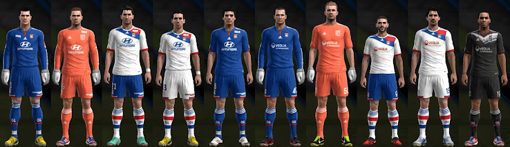 PES 2013 Lyon 12 13 Kit Set by Santy Argentina