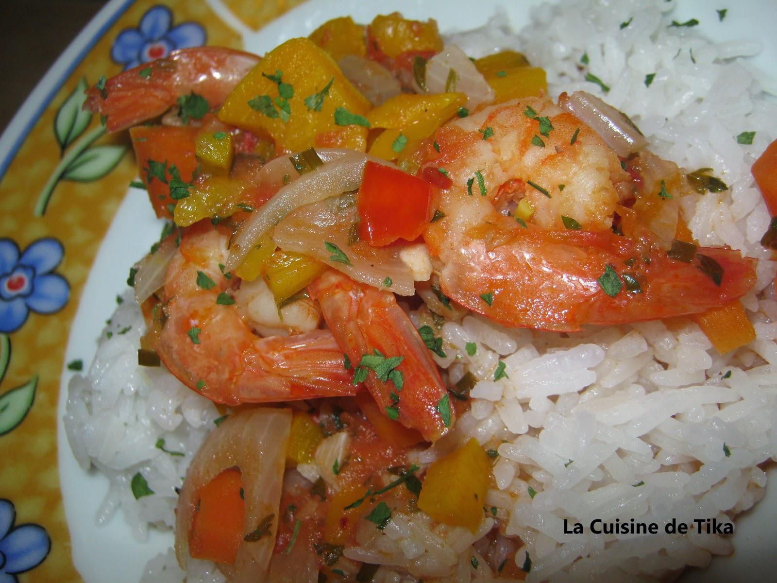 La cuisine de tika crevettes cardinales for Au feminin cuisine