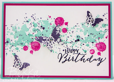 Cheerful Butterfly Birthday Card Featuring Gorgeous Grunge and Butterfly Basics from Stampin' Up! UK  Get the details and the stamps here