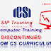 SIP and Computer Training Discontinued - ICSI