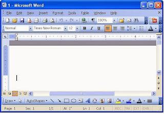 Tampilan Microsoft Word 2003