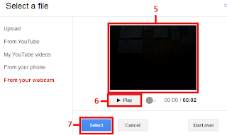 Upload/menambahkan video dari webcam ke blog