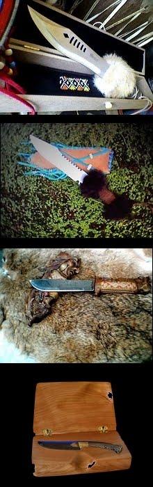 Facas com lâmina de aço