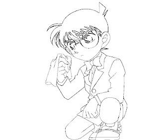 #5 Detective Conan Coloring Page